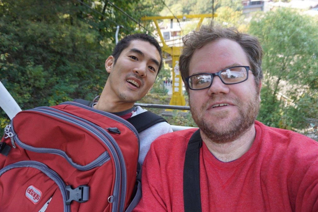 The first full day there, we went to the Mutianyu section of the great wall. Instead of walking the whole way up the mountain, we opted for the chairlift up!