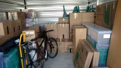 It's bittersweet when all our worldly possessions fit into a storage unit smaller than a garage.