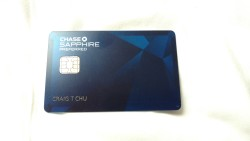 The Chase Sapphire Preferred card looks sleek and sexy!
