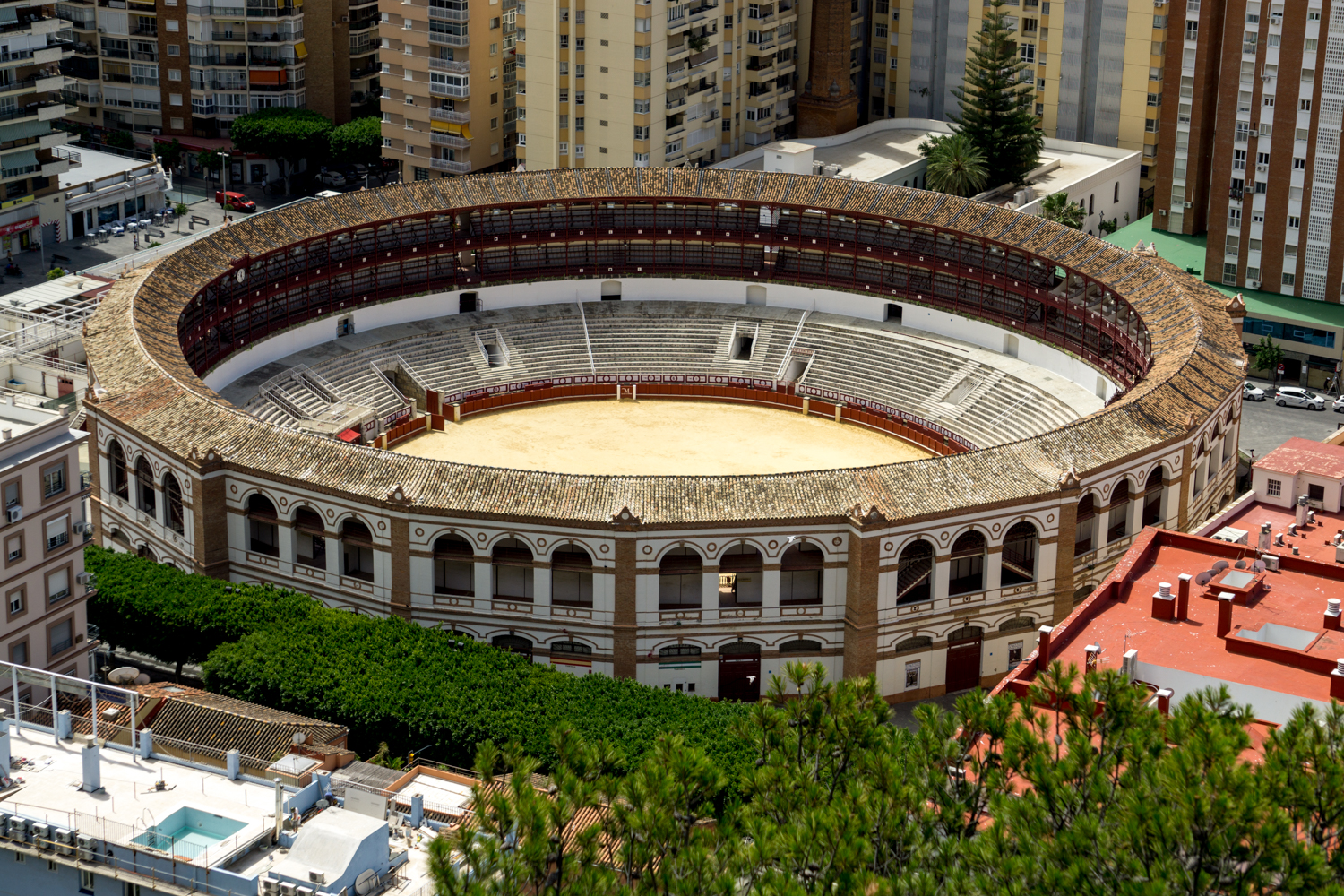 A view of La Malagueta, a 19th century bullfighting ring (gross....)