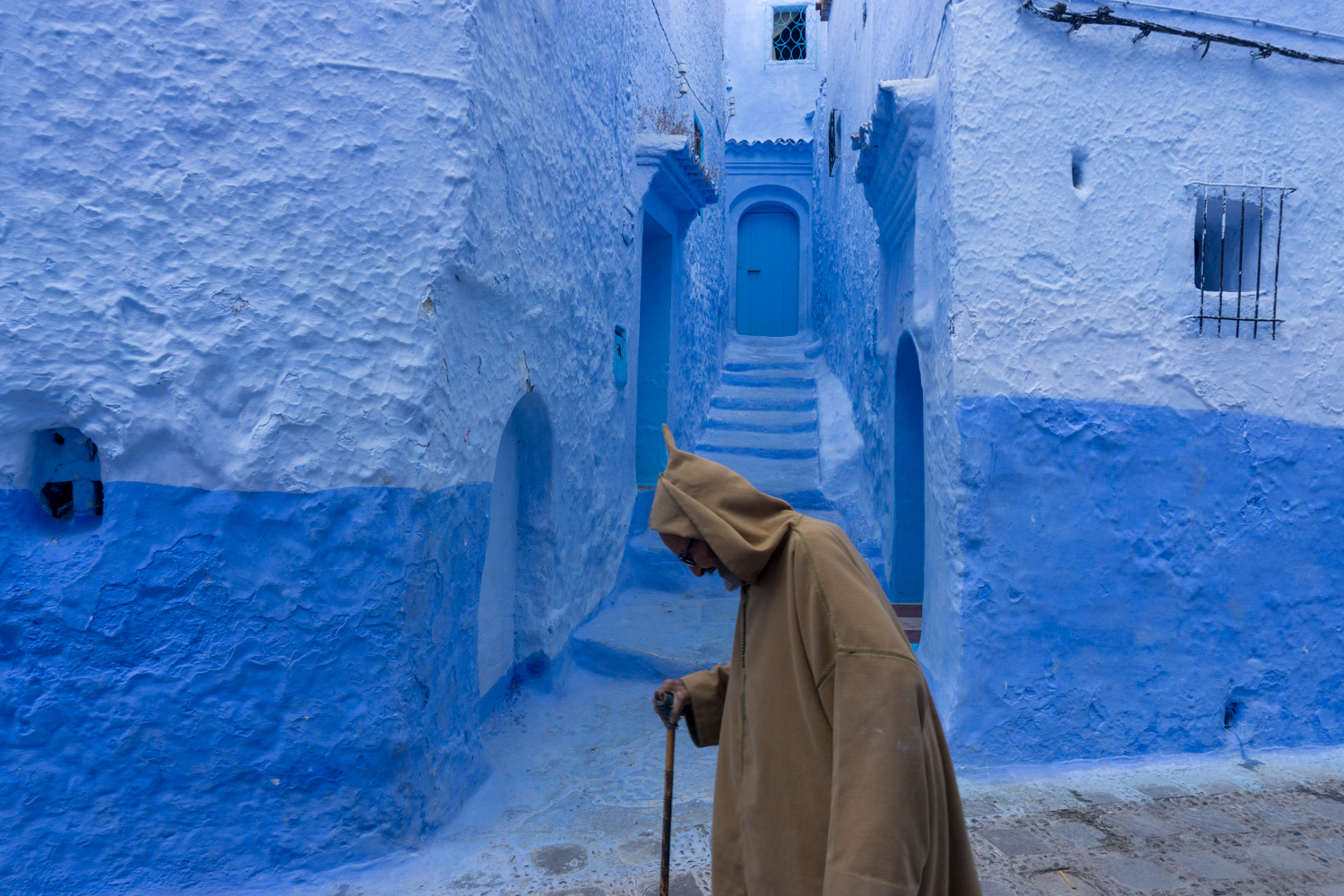 "Chefchaouen is known to many as the ""Blue Pearl"" because nearly every surface is painted in shades of blue."