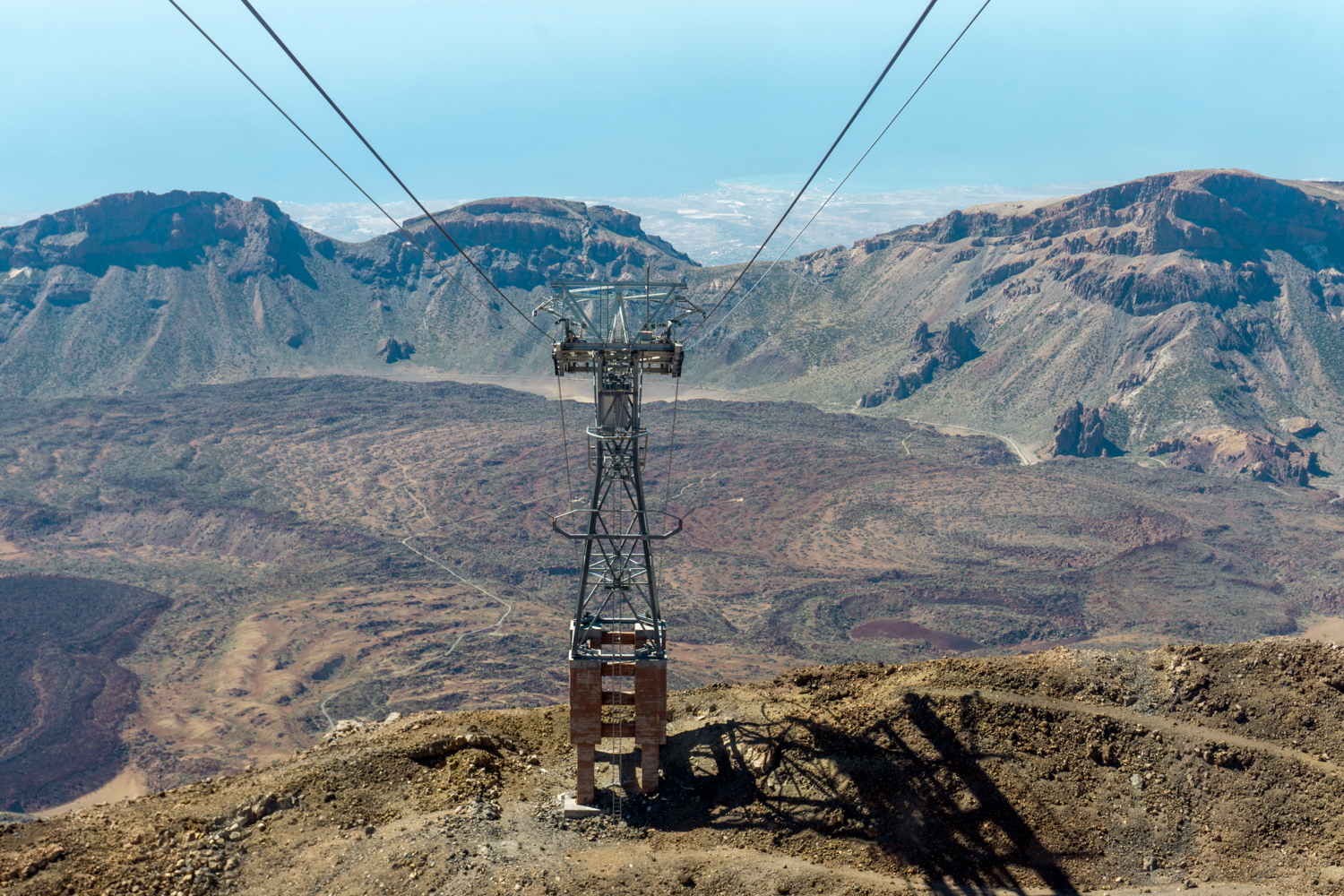 We took a cable car to the top of Mount Teide.