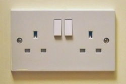 British power outlets are really big.