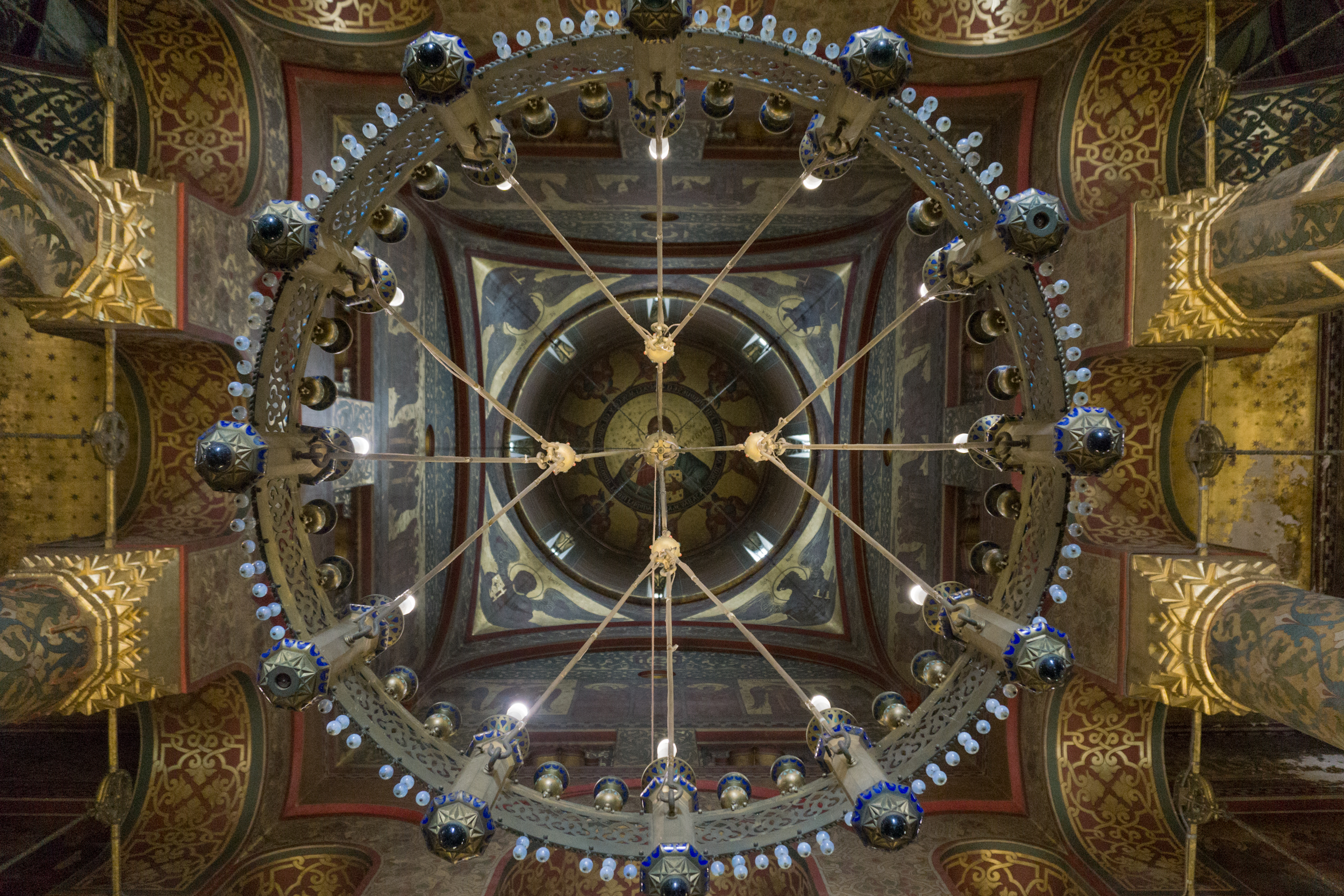 Romania: The ceiling of a church in Transylvania