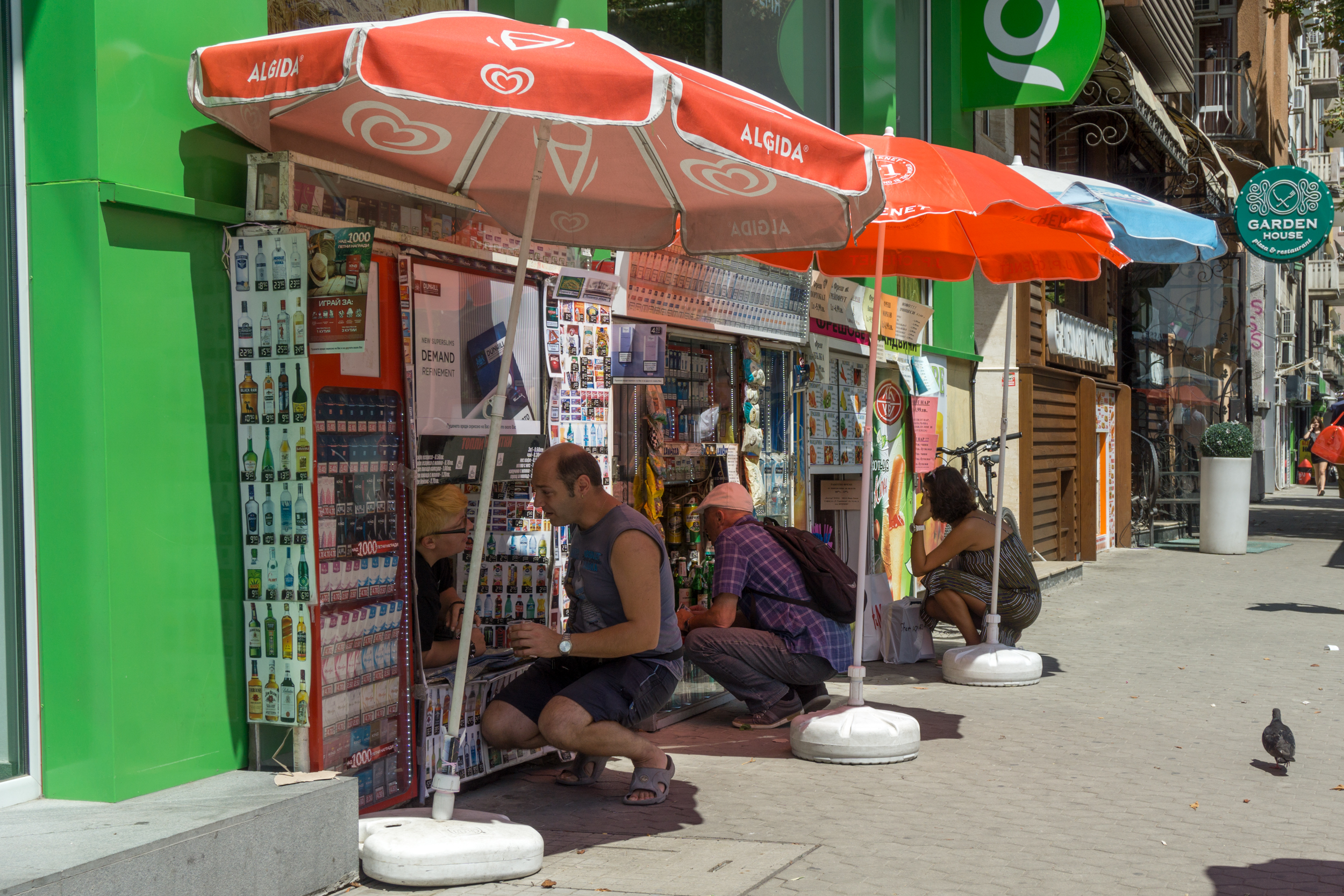 Bulgaria: You had to kneel down to buy things from these vendors in Sofia