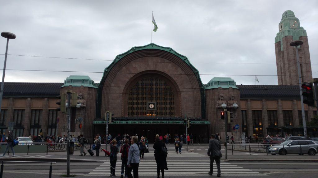 Helsinki main train station - less ornate than most of Europe!